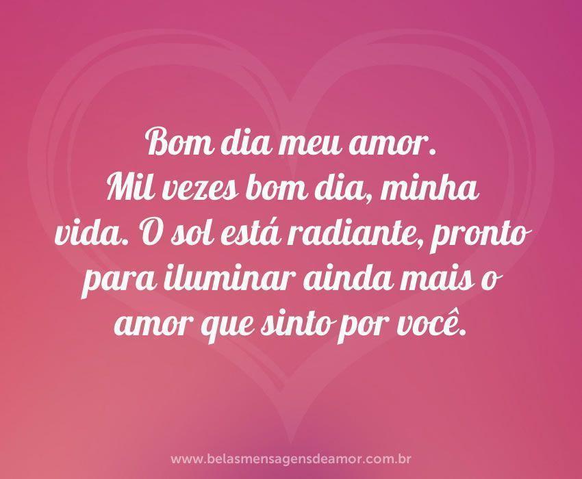 frase de Bom Dia de Amor Rosa